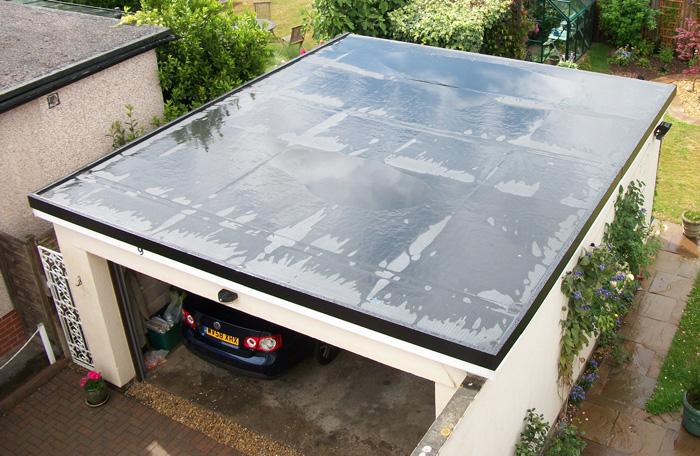 North Somerset garage roof