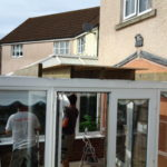 work to add a new conservatory roof