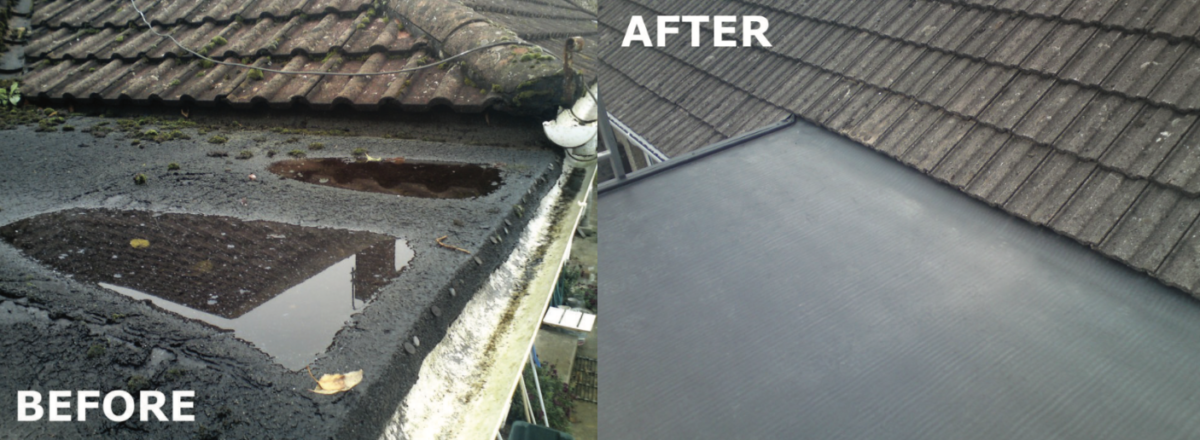 bath flat roofing
