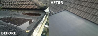 bath flat roofing