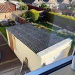 Weston garage flat roof before