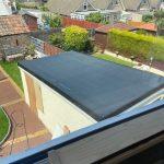Weston garage flat roof after