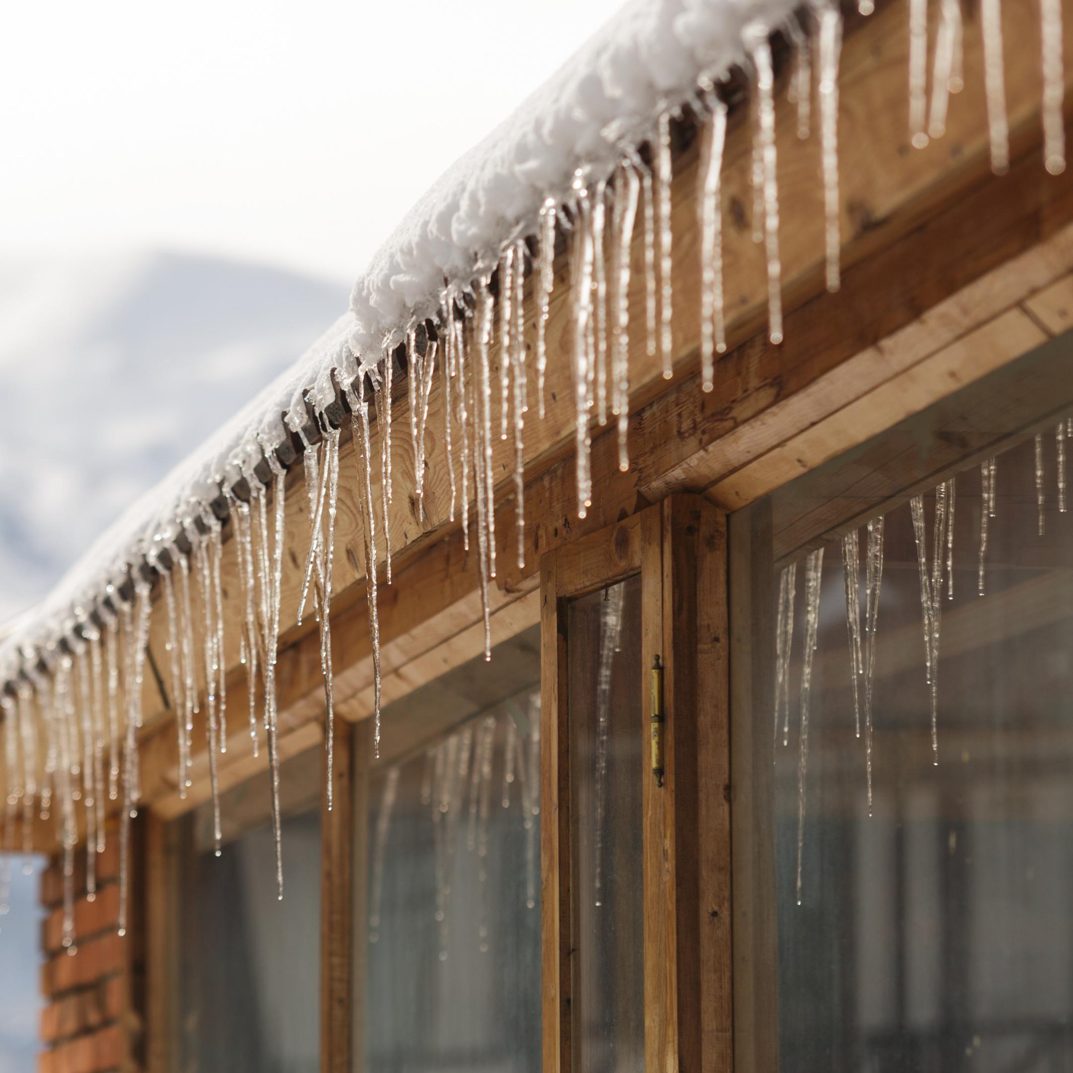 winter flat roof